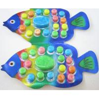 Quality OEM 2.8g Fish Shape Compressed Fruity Hard Candy / Colored Powdered Sugar for sale