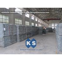 Quality PVC Coated Gabion Basket Filled With Stone , Electro Galvanized Gabion Box for sale
