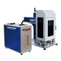 Quality Cnc Portable Laser Marking Machine / Silver Gold Laser Cutting Machine Power 50W With Rotary for sale