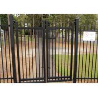 Buy cheap 2.1mx2.4m Garrison Fencing Panels rail 50mm x 50mm  1.6mm upright 25mm x 25mm wall thick 1.2 with pedestrian gates from wholesalers