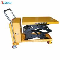 China Portable 350kg Electric Lift Table With 1500mm Lifting Height Compact Structure on sale