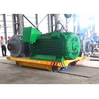 Quality 25t steel factory apply railway motorized cart running on steel rails for sale