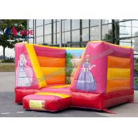 Buy Pink Party Bouncy Castle Rental ,  Inflatable Bouncers For Kids Combo Theme at wholesale prices