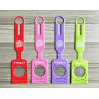 Quality Portable Bright Color PVC Luggage Tag Plastic Luggage Identification Tags Perfect for Travel for sale