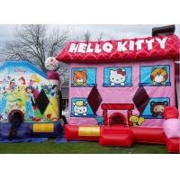 Buy Pink Hello Kitty Inflatable Bouncer , Blow Up Kids Bouncy Castle For Backyard Fun at wholesale prices