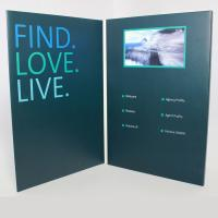 Quality IPS HD Lcd Video Greeting Card , Lcd Video Book Hard / Soft Cover Style For Business for sale