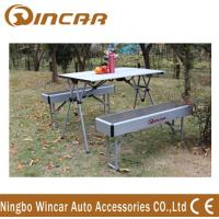 Quality Heavy Duty Aluminum Expandable Portable Camping Table With Bench for sale
