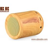 Quality 2018 newest hot sell cylinder portable wireless wooden speaker for sale