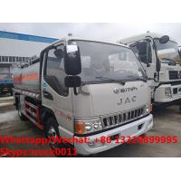 Quality high quality JAC 5500L oil tanker fuel transport truck for sale, Bottom price JAC diesel tank delivery truck for sale