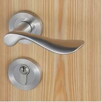 Buy Casting Solid Stainless Steel Handle Mortise Door Lock 54mm Escutcheon Diameter at wholesale prices