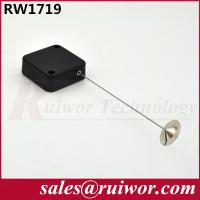 Quality Retractable Spring Anti Theft Pull Box With 22mm Metal Round Viscous Plate End for sale