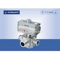Quality Sanitary Ball Valve Aluminum pneumatic actuator three-way non-retention L type and full port for sale