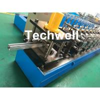 Quality 0-15m/min Cold Roll Forming Machine For Making Door Frame Guide , Shutter Door Slats Guide Rail for sale