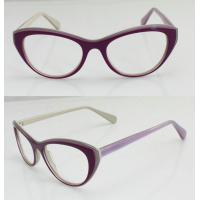 Quality Lightweight Acetate Optical Frame, Cool Purple Acetate Women Glasses Frames for sale