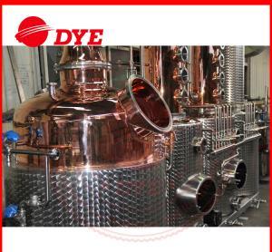 Quality 100% Red Copper Alcohol Distiller , MoonshineDistillation Equipment for sale