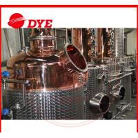 Quality 100% Red Copper Alcohol Distiller , Moonshine Distillation Equipment for sale