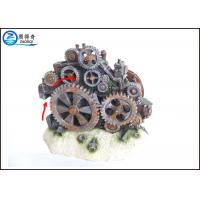 Quality Poly Resin Cool Fish Tank Decorations Gearwheel Action System 17.5 x 10 x 14cm for sale