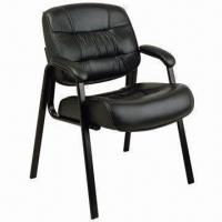 Quality Guest Chair, Made of PU Seat and Back Cushion, Strong Steel Frame, High Density Foam for sale