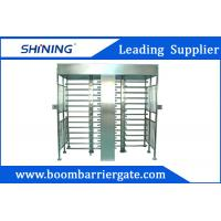 Quality White Color Swing Full Height Turnstile , Intelligent Barcode Scanner Turnstile for sale
