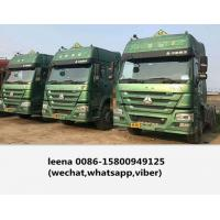 China Used Howo Diesel Trailer Head Truck 375 / 10 Wheeler Tractor Head Made In 2015 for sale