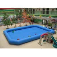 Quality 0.9mm PVC Outside Blue Rectangular Inflatable Swimming Pool For Adults for sale