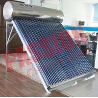 Quality 200L Capacity Vacuum Tube Solar Water Heater Portable Galvanized Steel Frame for sale