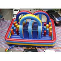 Quality 0.55mm Plato PVC Tarpaulin airflow bouncy castle With slide / Logo Printing for sale