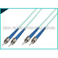 Quality OS2  LC APC Fiber Optic Patch Cables Duplex Yellow OFNR Jacket Fibre Patch Leads for sale