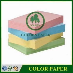 Quality 70gsm 75gsm 80gsm a4 color copy paper color bond paper color paper for sale