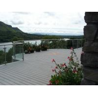 Quality Dark Grey Waterproof WPC Decking Boards , Recycled Plastic Decking Material With Mountain Landscape for sale