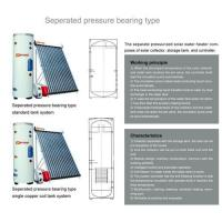 China SRCC,SK,ISO,CE--Separated pressurized solar water heater on sale