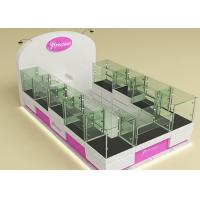 Buy Fully Lockable Wood Glass Jewelry Showcase Kiosk , Retail Commercial Display Cases at wholesale prices