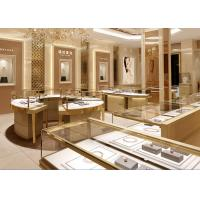 Quality Fully - Assembled Gold Metal Showroom Display Cases Customized 3D Design for sale