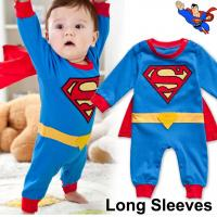 China Superman Baby Infant Kid Grow  Onesie Bodysuit Romper Jumpsuit Coverall Outfit Cloth One-Piece Halloween Costume on sale