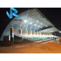 Quality Sunshade Prefabricated Steel Structure For Stadium Bleachers Tent Tensile Membrane for sale