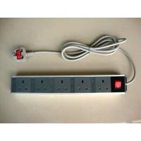 Quality 5 Outlet European Power Strip With Extension Cords , Flat Plug Power Strip 250V for sale