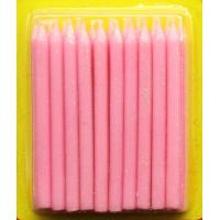 Quality Light Pink Color Glitter Birthday Candles 20pcs For Girls Party / Valentine's Day for sale