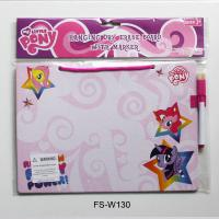 Buy Pony Hanging Dry Erase Board with Marker/Kids Drawing Board with Customized Logo Printing at wholesale prices