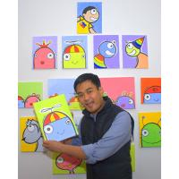 Quality cartoon painting Ikkyu elder brother wall picture for sale