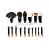 Quality Super Soft 16Pcs Natural Animal Hair Makeup Brushes Set With Wood Handle for sale
