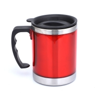 Quality Plastic Handle BSCI 13 Ounce Stainless Steel Insulated Mug for sale