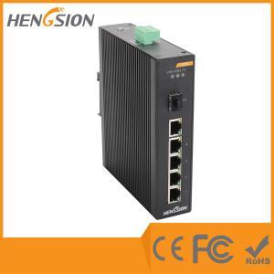 5 Megabit TX Port / 1 Gigabit SFP FX 5 Port Industrial Ethernet Network Switch / 5 Port Poe Switch