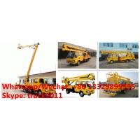 China customized best price ISUZU brand 4*2 LHD double cabs 16m aerial lift boom vehicle, bucket truck for Myanmar for sale on sale