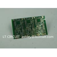 Quality 6 Layer Green Printed Circuit Board FR4 with V Groove White Silkscreen for sale