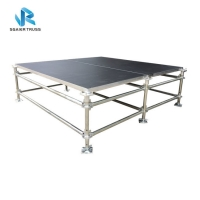 Quality Adjustable Foot 4x8ft 2*1m Modular Steel Stage Scaffolding for sale