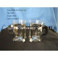 China glass shot glass with handle for wholesale on sale