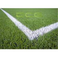 Quality PE Material Football Field Artificial Grass 50mm Pile Height OEM for sale
