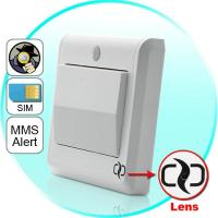Quality HD Spy Camera Light Switch with GSM Remote Control (Motion Detection, GSM MMS Video Alarm) for sale