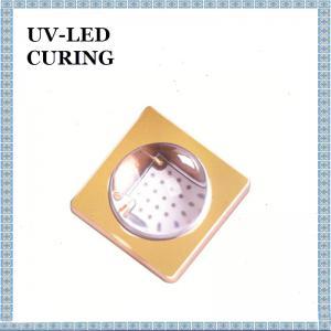 Quality 3W UV LED Lamp 60 Degree Quartz Glass Lens 45 Degree Glass Lens 365nm 395nm 405nm for sale