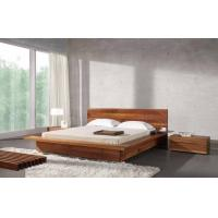 Bed Room Queen Size Walnut Bed Set / Wood Beds With Solid Black Walnut 1.8 * 2.0